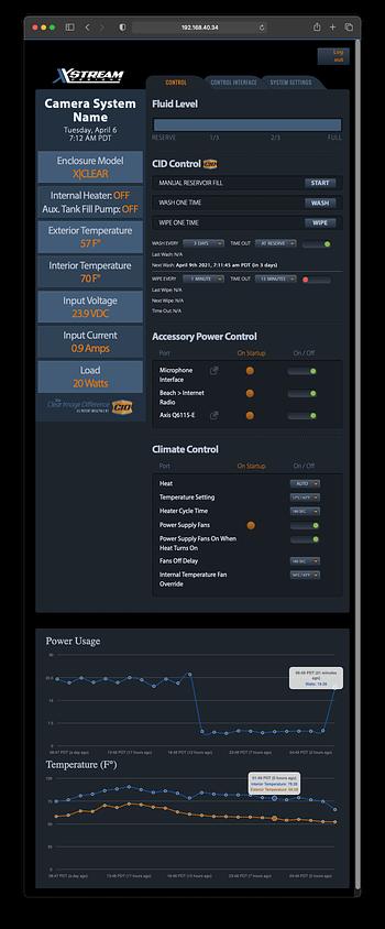 XSmart web interface