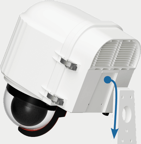x stream designs xrain climate controlled ptz camera enclosure wall mount