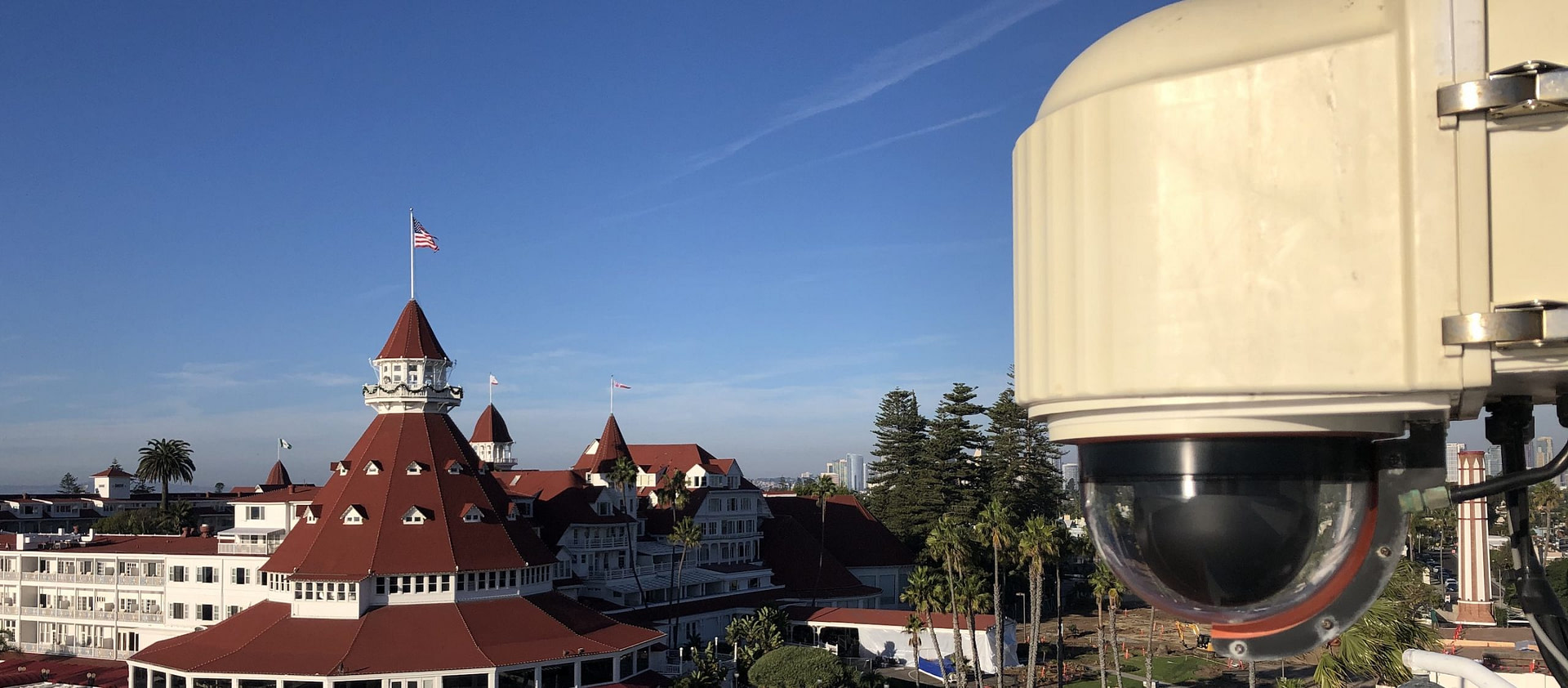 XClear Self Cleaning Camera Enclosure System Installed on the Hotel Del in Coronado
