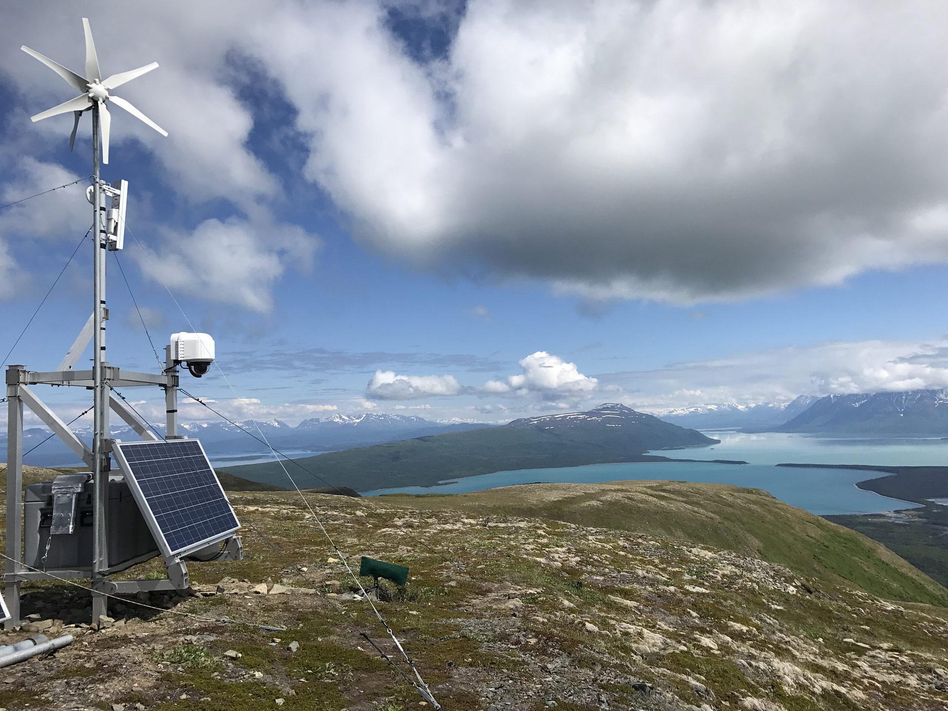 XRain Self Wiping Camera Enclosure System Installed On Dumpling Mountain In Katmai National Park Alaska Overlooking Brooks Camp