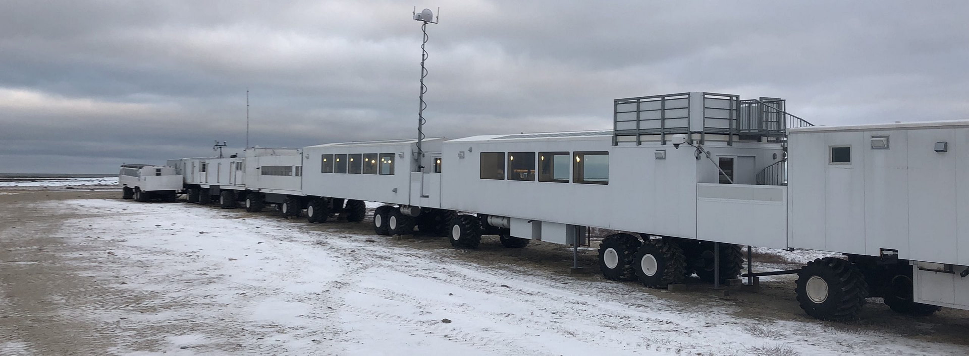 XRain Self Wiping Camera Housing System Installed On The Tundra Buggy Lodge Overlooking Polar Bears In Wapusk National Park In Churchill Manitoba Canada