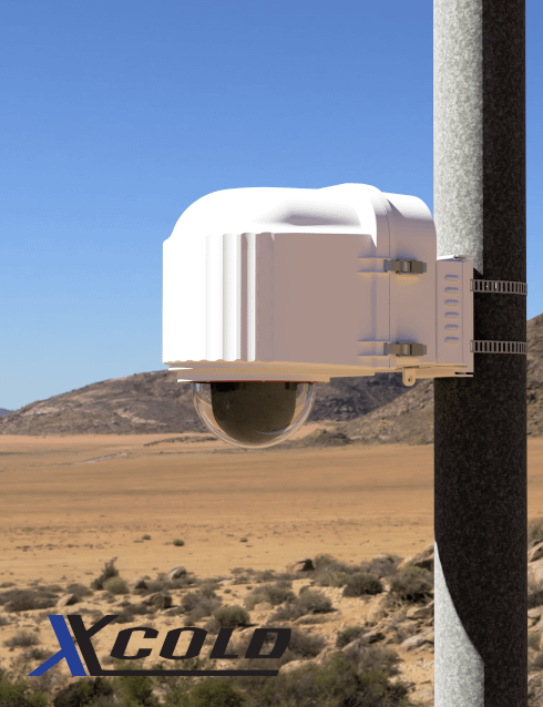 x stream designs xcold camera enclosure system in the elements