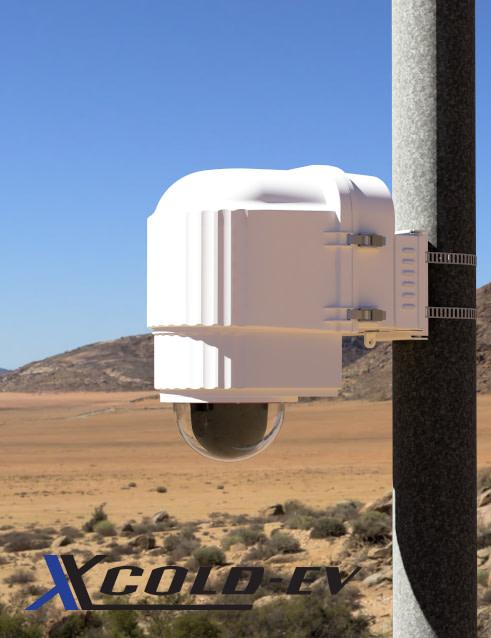 x stream designs xcold EV camera enclosure system in the elements